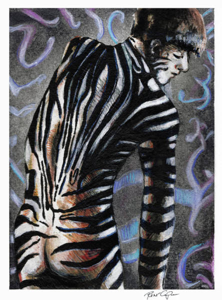 Painting - Zebra Boy At Dawn by Rene Capone
