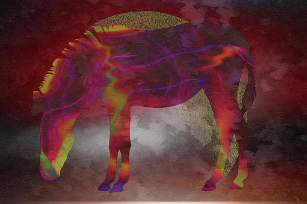Digital Art - Zebra-coat Of Many Colors by Ericamaxine Price