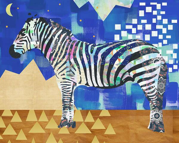 Zebra Collage Art Print