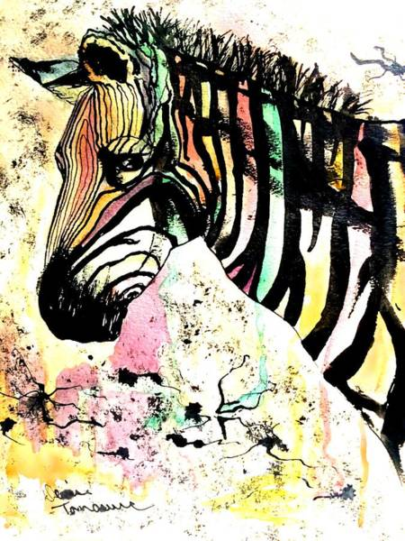 Painting - Zebra by Denise Tomasura