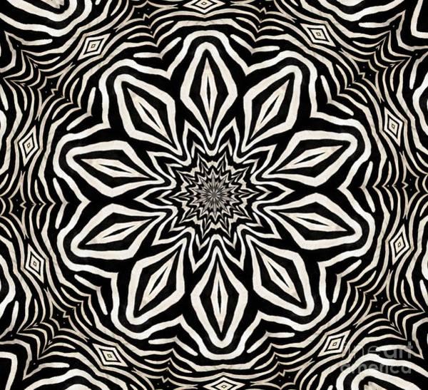 Photograph - Zebra Fur Macro Kaleidoscope Mandala Abstract 1 by Rose Santuci-Sofranko