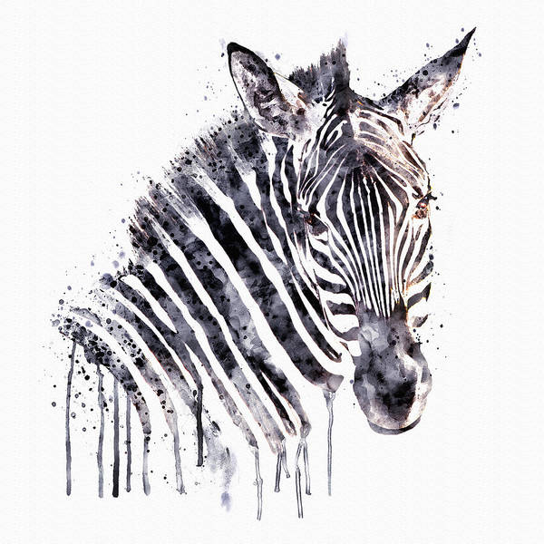 Zebra Painting - Zebra Head by Marian Voicu