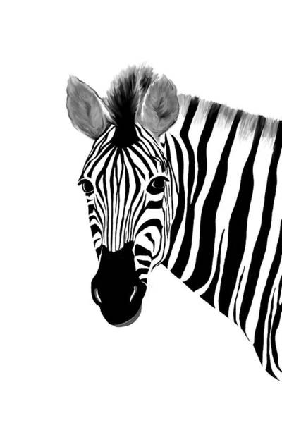Digital Art - Zack A. Zebra by Ramona Murdock