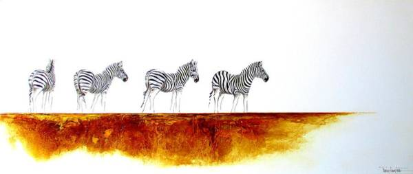 Painting - Zebra Landscape - Original Artwork by Tracey Armstrong
