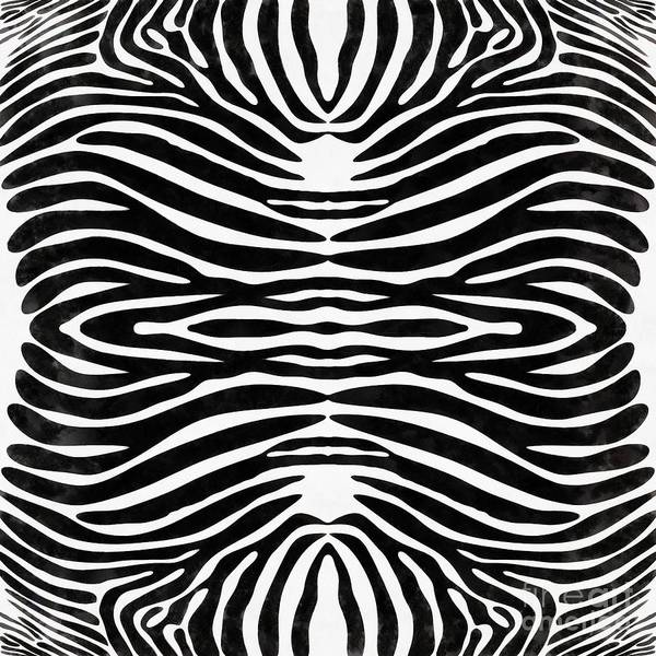 Painting - Zebra Skin Animal Print by Edward Fielding