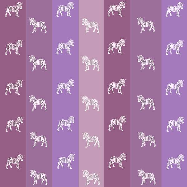 Mixed Media - Zebra Stripes Pattern by Christina Rollo