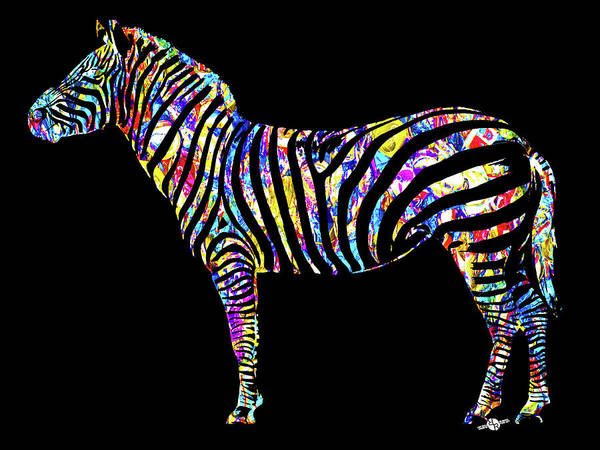 Painting - Zebra Study 1 by Tony Rubino