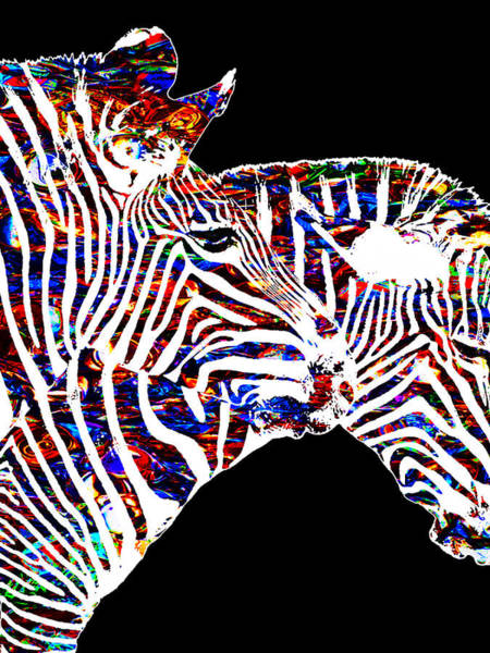 Painting - Zebras by Tony Rubino