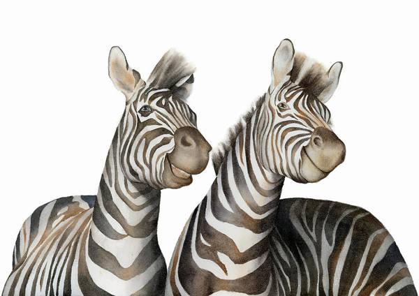 Painting - Zebras Watercolor by Zapista Zapista