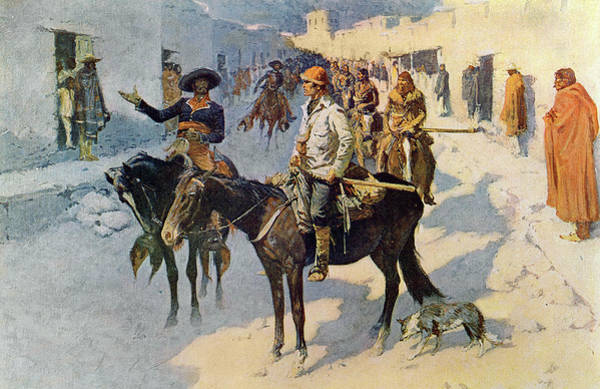 Painting - Zebulon Pike Entering Santa Fe by Frederic Remington