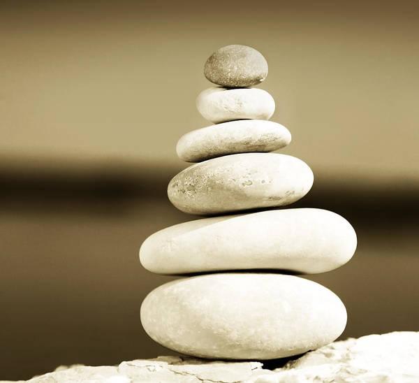 Balancing Rocks Photograph - Zen Balance by Anna Om