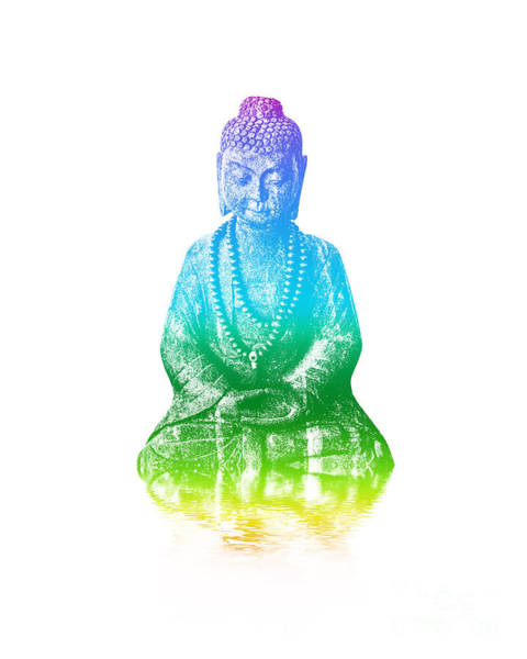 Holy Spirit Photograph - Zen Buddha by Delphimages Photo Creations