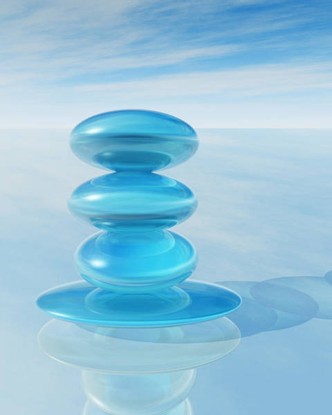 Aqua Tower Digital Art - Zen Crystal Pile by Dan Collier