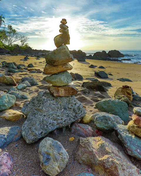 Zen Rock Balance Art Print