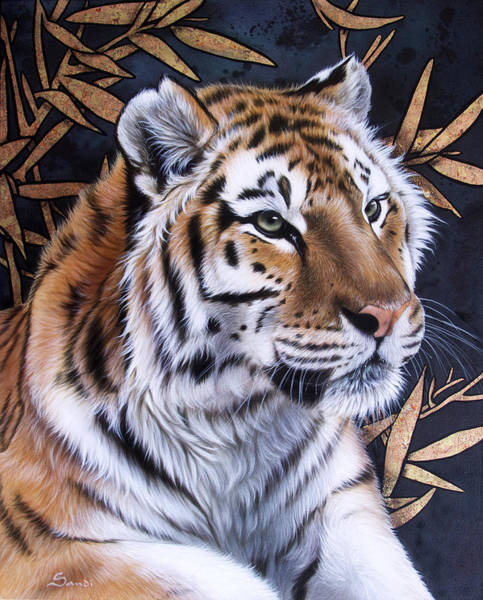 Big Cat Wall Art - Painting - Zen Too by Sandi Baker