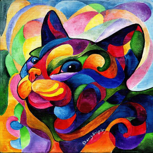 Painting - Zen Ziggy by Sherry Shipley