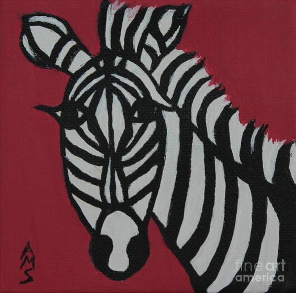 Painting - Zena Zebra by Annette M Stevenson