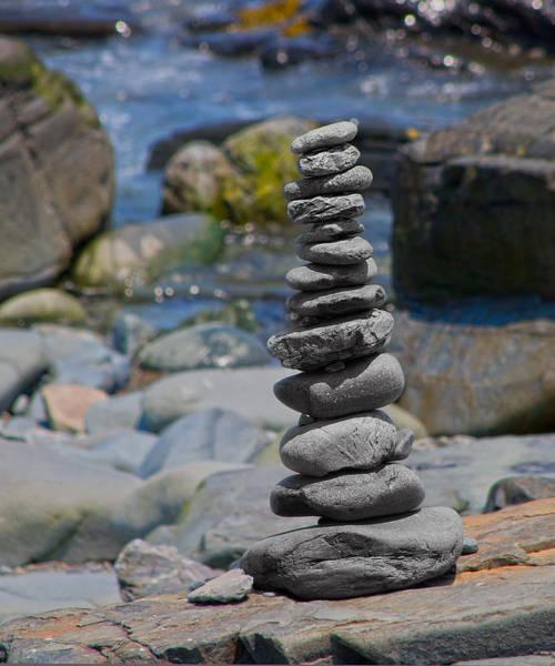 Balancing Rocks Photograph - Zensynergy  by Betsy Knapp