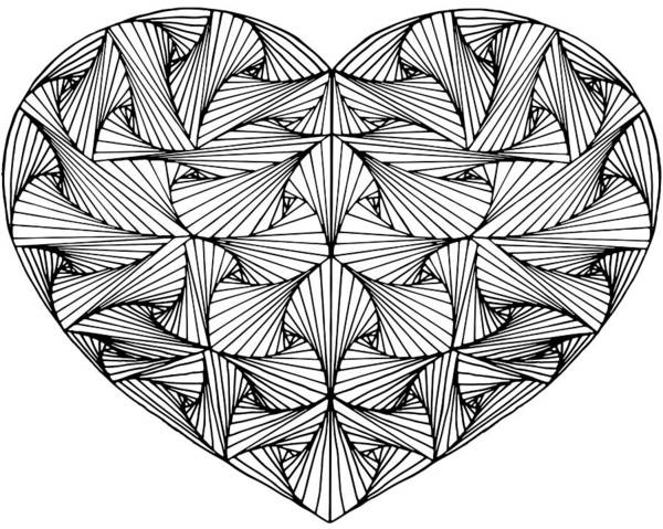 Paradox Photograph - Zentangle Hand Drawn Decorative Heart Made With Paradox Tangle, Black And White. by Irina Moskalev
