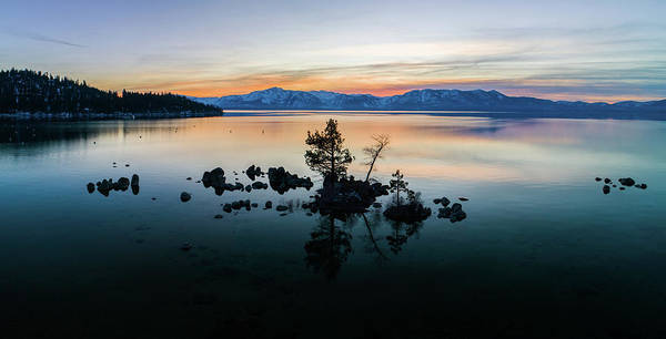 Photograph - Zephyr Cove Tree Island By Brad Scott by Brad Scott