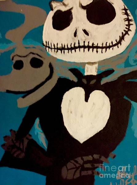 Skellington Painting - Portrait Of Friends by Shylee Charlton