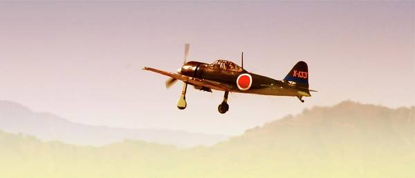 Japanese Zero Photograph - Zero Into The Rising Sun by Gus McCrea