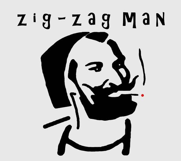 Digital Art - Zig-zag Man by Ericamaxine Price