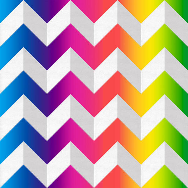 Digital Art - Zig Zag Spectrum by Chuck Staley
