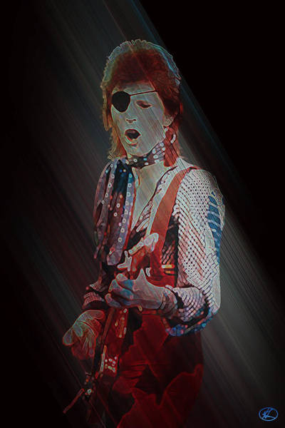 Digital Art - Ziggy Played Guitar by Kenneth Armand Johnson