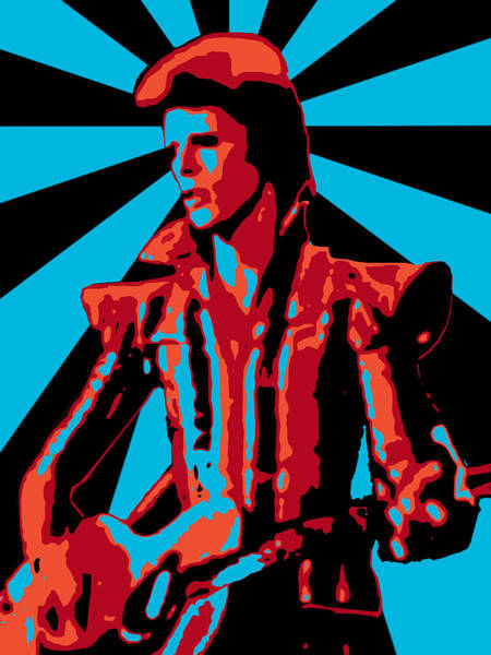 Glam Rock Digital Art - Ziggy Played Guitar by Lance Vaughn