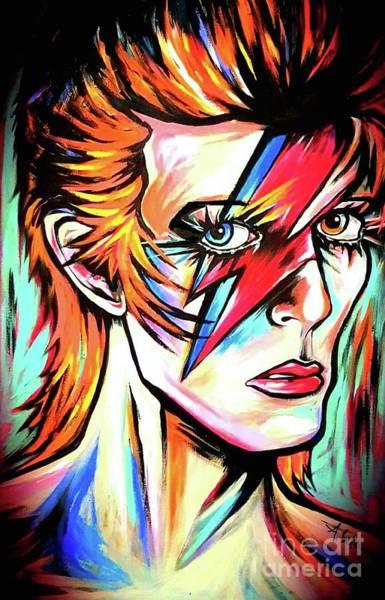 Starman Painting - Ziggy Stardust by Amy Belonio