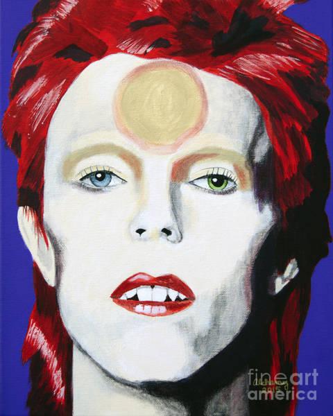 Starman Painting - Ziggy Stardust by Ladyalchemy13