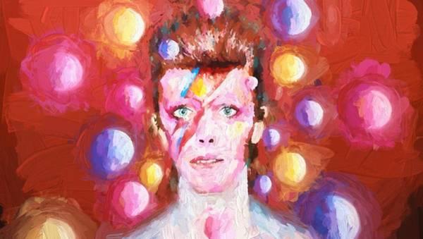 David Bowie Painting - Ziggy Stardust  by Louis Ferreira