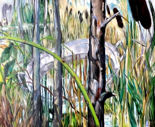 Bullrush Painting - Zinc Tub by Chris Walker