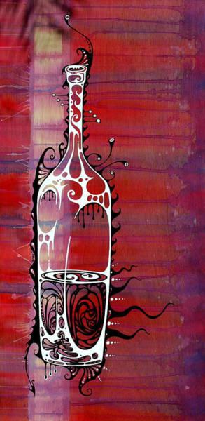 Bottle Wall Art - Painting - Zinfandel by John Benko