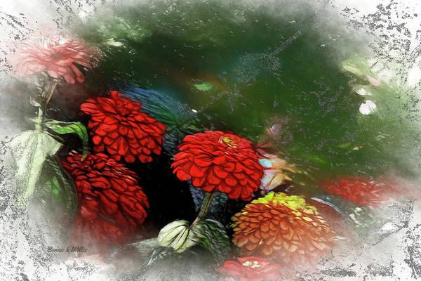 Digital Art - Zinnia by Bonnie Willis