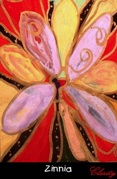 Clarity Painting - Zinnia by Clarity Artists