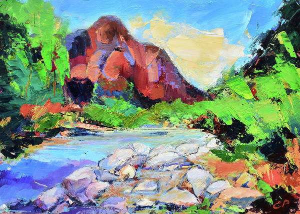 Zion Painting - Zion Colors by Elise Palmigiani