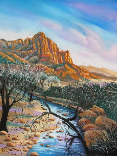 Sand Creek Painting - Zion National Park by Tammy Crawford