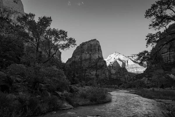 Photograph - Zion National Park Utah II Bw by David Gordon