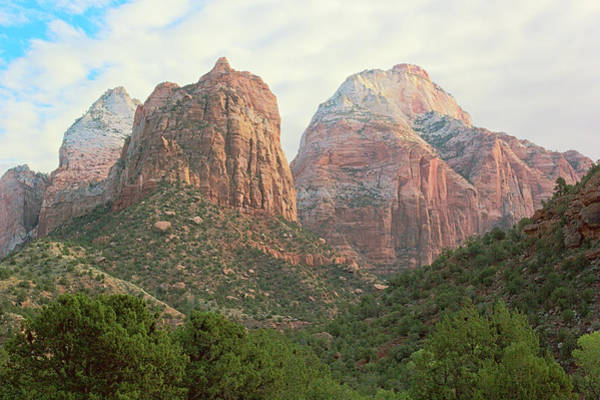 Photograph - Zion Peaks by Peter J Sucy