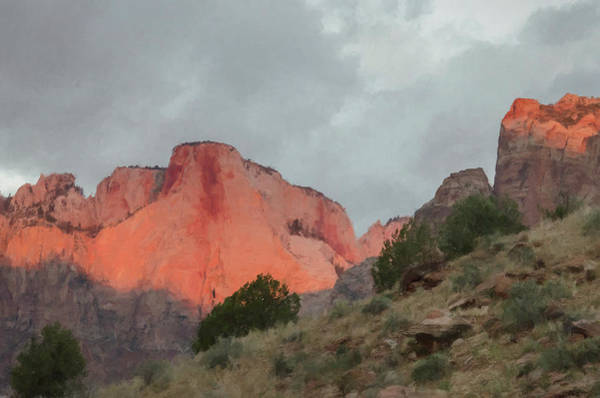 Photograph - Zion Sunrise by Jim Cook