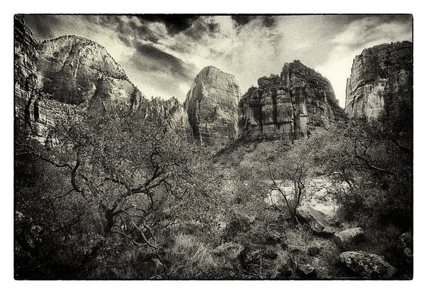 Wall Art - Photograph - Zion Valley by Robert Fawcett