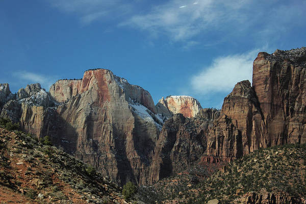 Photograph - Zion's Rock Towers by Jessica Tabora