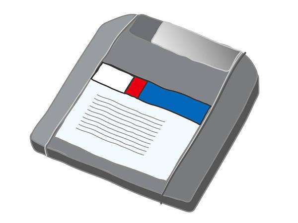 Digital Art - Zip Disk by Moto-hal