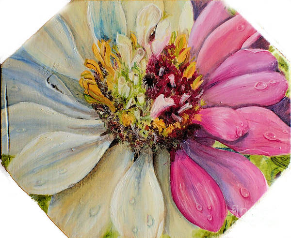 Painting - Zippy Zinnia by Nicole Angell