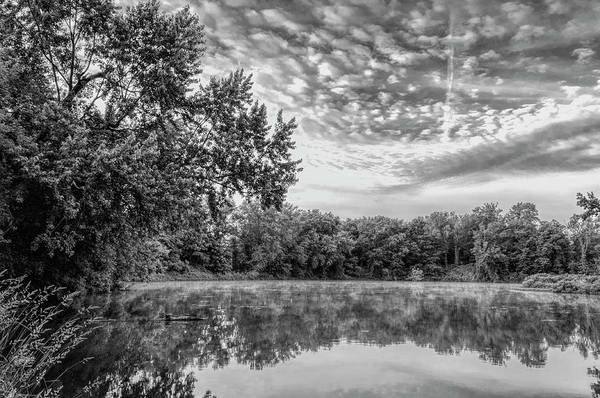Wall Art - Photograph - Zoar Lake Ohio In Black And White 2 by SharaLee Art
