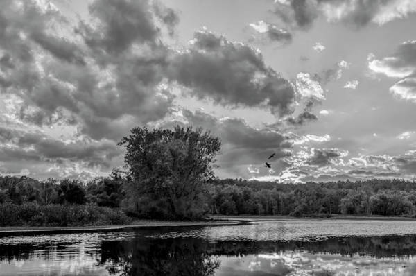 Wall Art - Photograph - Zoar Lake Ohio In Black And White 3 by SharaLee Art