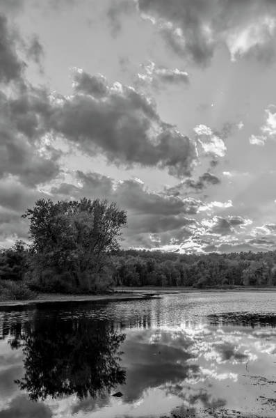 Wall Art - Photograph - Zoar Lake Ohio In Black And White 4 by SharaLee Art
