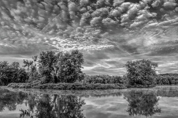 Wall Art - Photograph - Zoar Lake Ohio In Black And White by SharaLee Art
